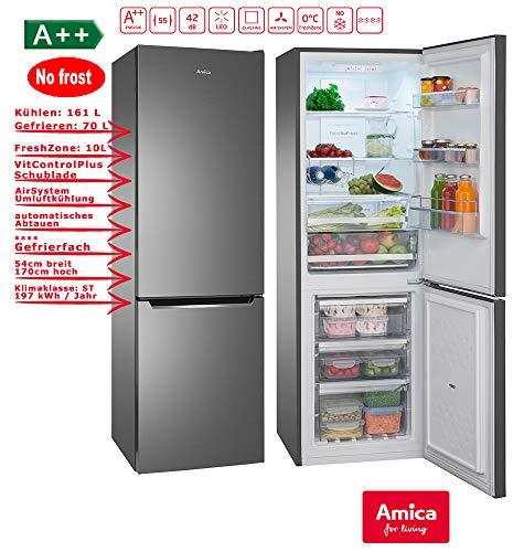 Amica KGCN 387 110 S Kühlschrank/A++ /Kühlteil161 liters /Gefrierteil70 liters