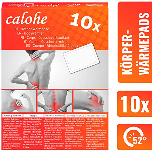 Wärmepflaster für Rücken, Schulter, Nacken I Wärmepad, Wärmespender für Massage und Entspannung | 10er Set | Körperwärmer, Rückenpflaster, Thermopflaster