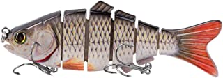 BOMSO Multisection Series high Simulation 5PCS/1PC Lure Fishing Bait 3D-Eye Design & Hollow Fish Mouth and Fishing Rod Design Multi-Section Fish Bait