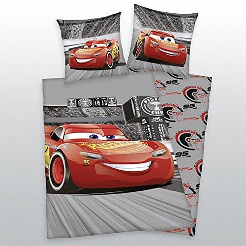 Herding Disney Cars 3 Bettwäsche, 80 x 80 cm + 135 x 200 cm 100{e2c42fa15b95602b2fe4df47dec6a0b332cf5ea722a7b10e892cd9389fc7c70f} Baumwolle mit Reißverschluss