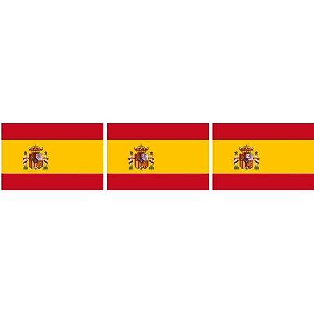 Michael Rene Pflüger Barmstedt Mini Aufkleber Fahne Flagge Von Spanien Wappen Sticker Auto Motorrad Fahrrad Bike Auch Für Dampfer E Zigarette Sisha Auto