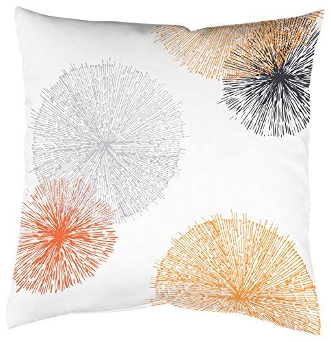 Home Fashion Kissenhülle Digitaldruck, Samt, orange, 1 x 40 x 40 cm