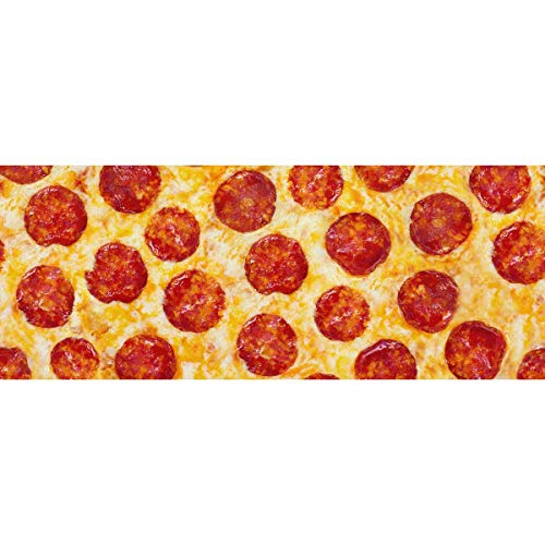 InterestPrint Pepperoni Pizza Gift Wrapping Paper Roll for Birthday, Mother Day, Valentine's Day - 2 Rolls