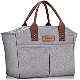 Best Work Lunch Boxes - HOMESPON Fashionable Tote Reusable Insulated Lunch Bag Cooler Review