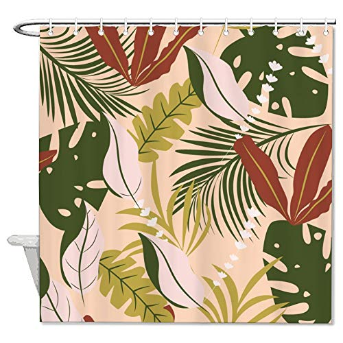Yellow Orange Ambesonne Tiki Bar Decor Shower Curtain 70 Inches Hibiscus Flora Burst Orange Surfboards Aloha Tropical Summer Fabric Bathroom Decor Set With Hooks Shower Curtain Sets Home Kitchen
