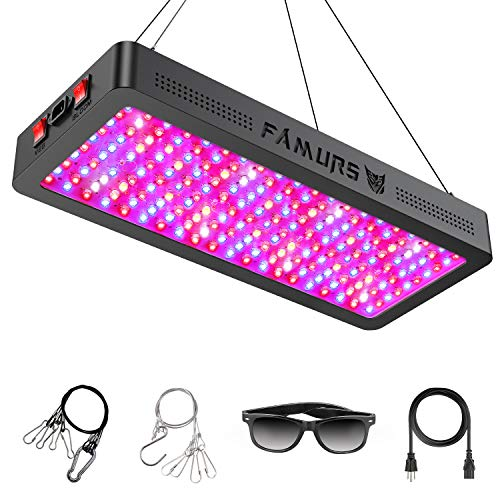 FAMURS 2000W LED Grow Light Full Spectrum Triple Chips LED Plant Grow Lamp with Veg and Bloom Two Switches for Greenhouse Hydroponic Indoor Plants.