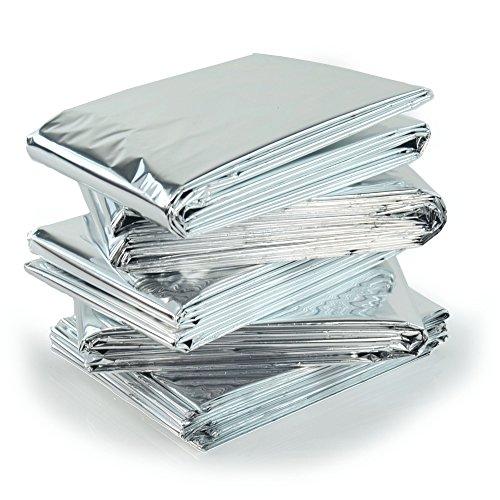 *5 x High Qualität Einzeln verpackt Notfall Survival Decken Reflektierende zur Körperwärme*