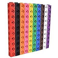 edxeducation Math Cubes - Set of 100 - Math Manipulatives - Classroom Learning Supplies, Homeschool Supplies, Preschool Learning, Counting Toys, Linking Cubes, Math Linking Cubes