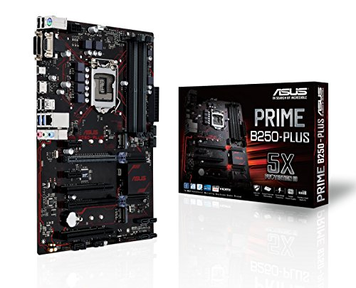 Asus Prime B250-Plus Gaming Mainboard Sockel 1151 (ATX, Intel B250, Kabylake, 4x DDR4-Speicher, USB 3.0, M.2 Schnittstelle)