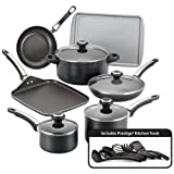 Farberware 21809 High Performance Nonstick Cookware Pots and Pans Set Dishwasher...