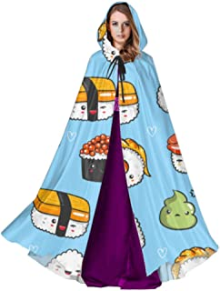 ZHANGhome Cute Tasty Food Sushi Cloaks For Adults Hood Cloak Men 59inch For Christmas Halloween Cosplay Disfraces