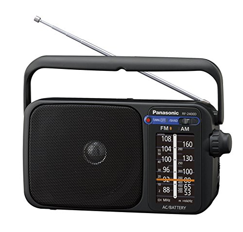 Panasonic RF-2400DEG-K - Radio Portátil FM/Am, (770mW, Iluminación LED, FM/Am,...
