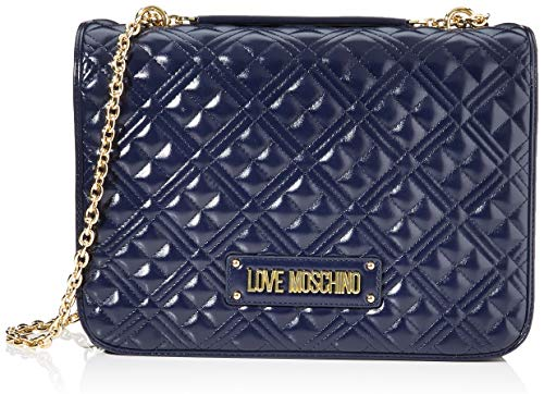 Love Moschino Borsa Quilted Nappa PU, Donna, Navy, Normale