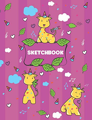 Sketchbook: 8.5 x 11 Sketch Book for Girls. 100 Blank Pages Notebook for Drawing and Sketching