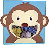 Foldable Storage Bin Containers – Collapsible Cube Bins with see through mouth! – Great Non Plastic Box Cubes for kids, toys, nursery, wall organizer, décor, etc. – Safe, Stain-resistant, fun!