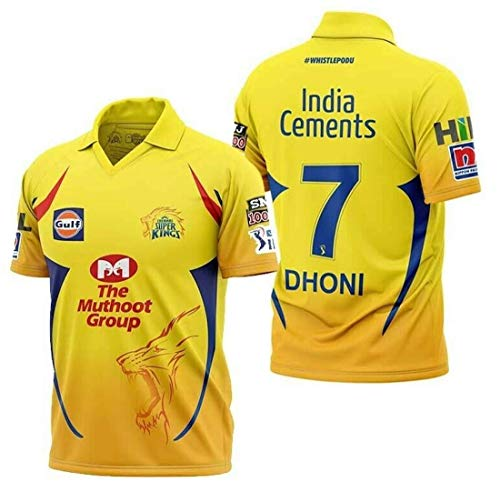 Chennai Super Kings Official Player Jersey (Medium) Yellow