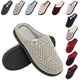 incarpo Zapatillas Casa Mujer Lana de Coral Zapatillas de Estar por Casa Antideslizante Pantuflas de Interior y Exterior Cálido y Confortable Zapatillas-Beige-38/39 EU