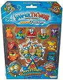 SuperThings - Power Machine - Blíster 10 Figuras, Contiene 9 SuperThings y 1 SuperThing Dorado,...