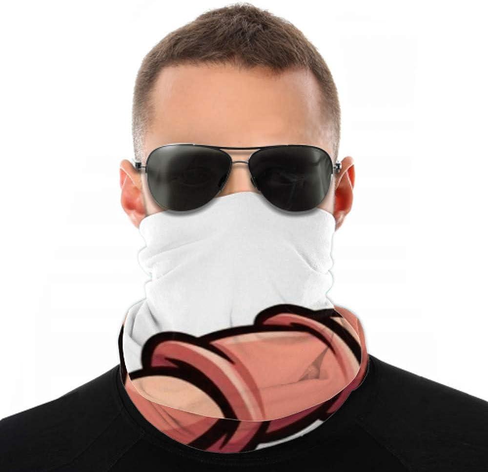 Headbands For Men Women Neck Gaiter, Face Mask, Headband, Scarf Cartoon Earthworm Running Scared Sweating Clip Turban Multi Scarf Double Sided Print Headband Women For Sport Outdoor