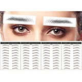 DAGEDA Brown 40 Pairs 4 PC 2D Eyebrow Transfers Stickers, Long Lasting Natural Waterproof Bionic Eyebrow Water Transfer Tattoo Eyebrow Sticker For Woman Man Makeup Tool(#ZX-004)