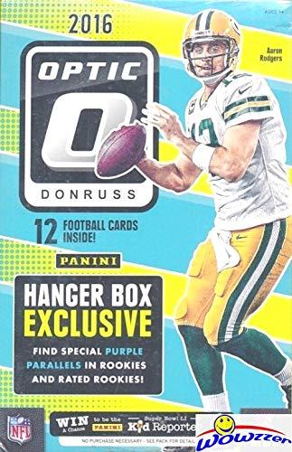2016 Donruss Optic Football EXCLUSIVE Factory Sealed Hanger Box! Look for Special Purple Parallels! Look for RC's & Auto's of Dak Prescott, Carson Wentz, Ezekiel Elliott, Jared Goff & More! WOWZZER!
