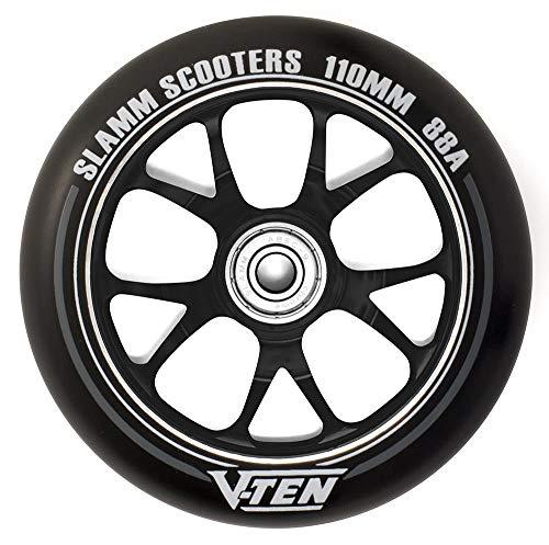 Slamm Scooters V-Ten II Roues SL582, Mixte Adulte, Noir, 110 mm