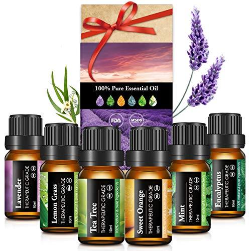 Janolia Ätherisches Öle Set, Upgrade-Paket,Reines Natürliche Duftöle Set für Diffuser Entspannung Schlaf verbessern