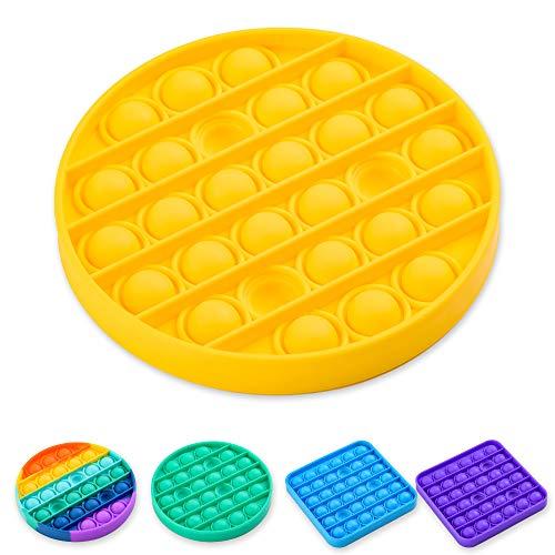 Nutty Toys Popit Sensory Fidget - Stress & Anxiety Relief Push Pop It Bubble Gadget for Kids &...