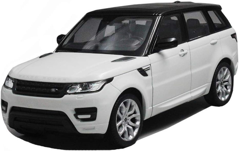 QRFDIAN 1 24 FX Le Rover Nuova Range Rover Range Rover SUV SUV Le Rover in Lega modellolo di Auto Giocattolo per Bambini auto Boy energia giocattolo Regalo (Coloreee   Bianca)