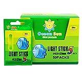 Angeln Leuchtstäbe, 4,5 * 37mm Float Glow Stick Nachtfischen Grün Fluoreszierendes Licht Angeln...