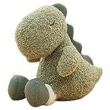 Wisvis Peluche de dinosaurio de peluche de 9 pulgadas, juguete de dinosaurio de peluche para dormitorio, salón, cama infantil, textiles para el hogar