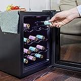 Cecotec Weinkühlschrank von 8-16 Flaschen. Tür aus Kristall- Design, Paneel Taktil und LED Bildschirm. (12, Edelstahl) - 2
