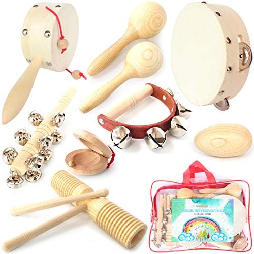 Wooden Musical Instruments Set Percussion Wooden Music Toys for Toddler Children Babies Rhythm product image