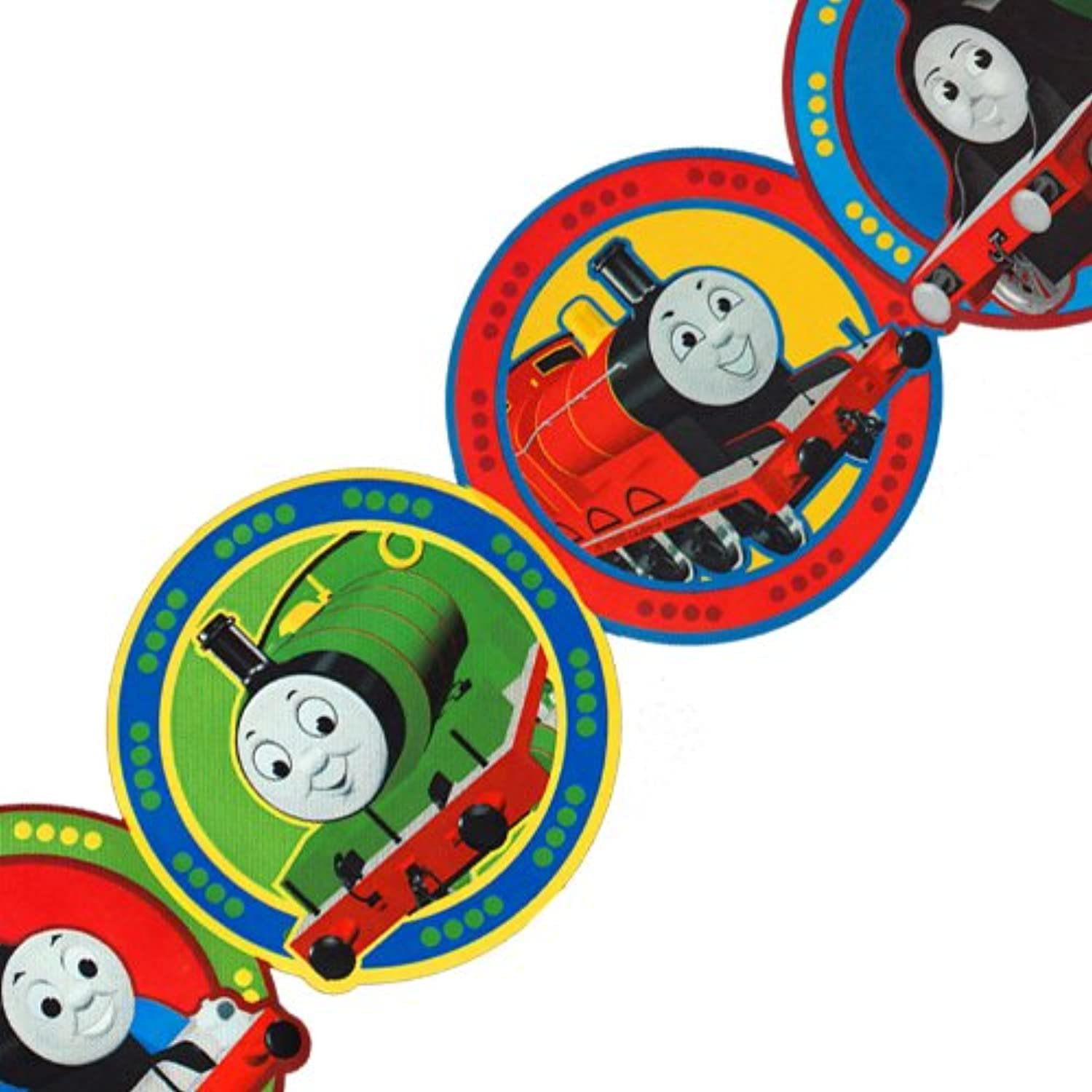 Thomas Train Circles Prepasted Wall Border Roll by Made in USA
