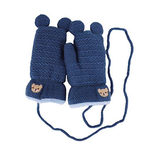Kinder Winterhandschuhe Warm Strickhandschuhe Mädchen Jungen Handschuhe Fäustlinge verdichte Plüsch Handschuh Fausthandschuhe Gloves für 3-5 Jahre alt