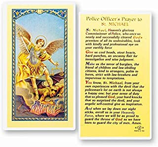 Saint Michael the Archangel Police Officer's Prayer Laminated Holy Cards (Set of 5)