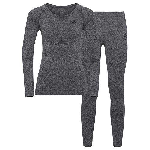 Odlo Damen Performance Evolution Thermo Set, Grey Melange, XL
