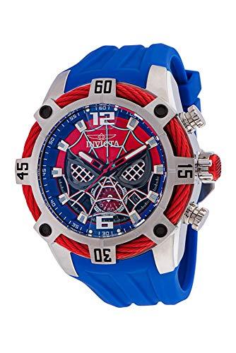 Invicta Hombre 35095 Marvel Spiderman Edición Limitada 51MM Caja Azul, Rojo Reloj