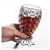 Weinset Rollsnownow Kristallglasbecher Bierkrug Drink Cup Fisch Korn Glas Meerjungfrau Cup Cocktail Glas -