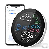 Weather Stations Wireless Indoor Outdoor Hygrometer Thermometer for Home with External WiFi Temperature Sensor Humidity Gauge Room Thermometer with Alert Temperature and Humidity Monitor