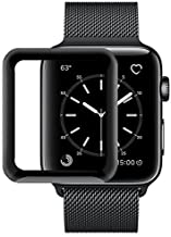 Market Affairs iWatch Full Glue Screen Protector 38mm, [3D Full Coverage] [Anti-Scratch] [High Definition] Tempered Glass Screen Protector for Apple Watch 38mm Series 3/2/1 (Black)