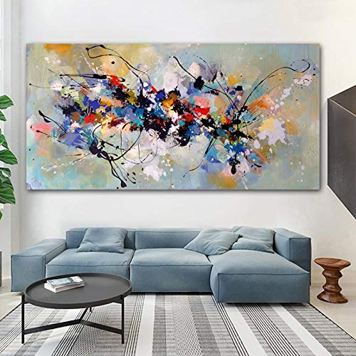 Modern Abstract Painting on Canvas Colorful Posters and Print Scandinavian Wall Art Picture for...