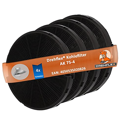 DREHFLEX - 2 x 2 filtros de carbón – Compatible con campanas extractoras de AEG-Electrolux Faber Ikea Smeg para piezas número 4055093712 112.0067.944 112.0254.245 EFF75...
