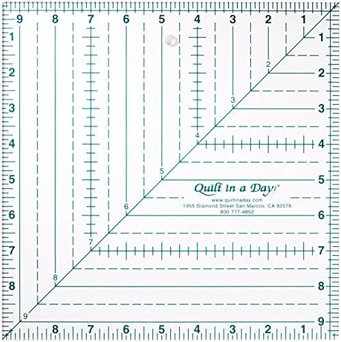 Quilt in a Day Courtepointe en Un Jour 9 1/2 X 9 1/2 Square Up Règle