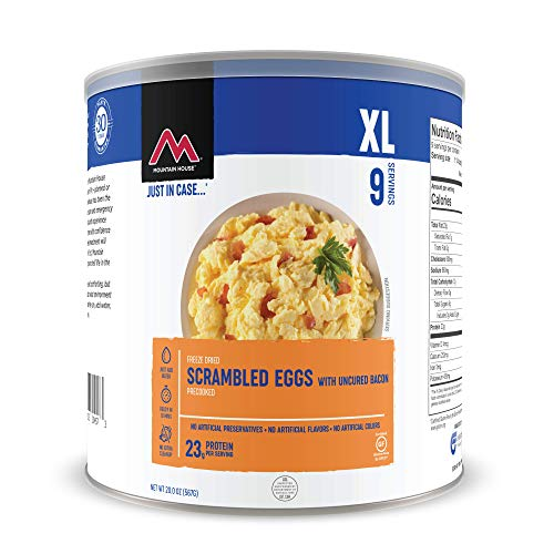 Mountain House Scrambled Eggs with Bacon   Freeze Dried Survival & Emergency Food   #10 Can   Gluten-Free
