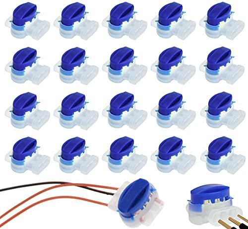ZoneYan 20 Conectores Conector para Cables, Juego de Reparación para Cables de Robot Cortacésped, Bornes para Cables, Conector de Cable con Gel