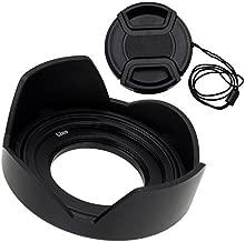Fotodiox Reversible Lens Hood Kit for Sony E PZ 16-50mm F3.5-5.6 OSS E-Mount Power Zoom Lens, Reversible Tulip Flower Hood w/Cap f/Sony Kit Lenses