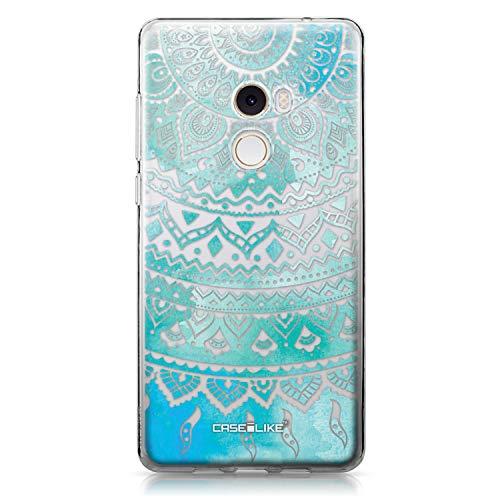 CASEiLIKE Mi Mix 2 Hülle, Mi Mix 2 TPU Schutzhülle Tasche Hülle Cover, Indische Linie Kunst 2066, Kratzfest Weich Flexibel Silikon für Xiaomi Mi Mix 2
