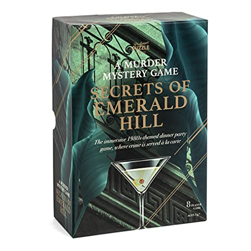 Professor PUZZLE Secrets of Emerald Hill - Juego de misterio de asesinato temático de los años 80 único