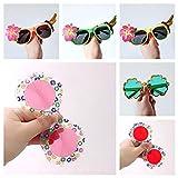 6 Gafas de Fiesta Pájaro colorido de la flor Hawaianas Party Glasses Novedad Gafas Sol Tropicales Foto Props Decorativas Playa Accesorios Fotomatón Niños Adultos Feliz Anteojos Graciosos